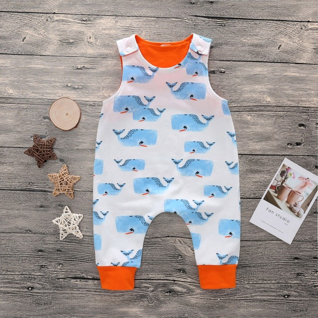 Sleeveless Rompers for Babies with Various Cute Designs