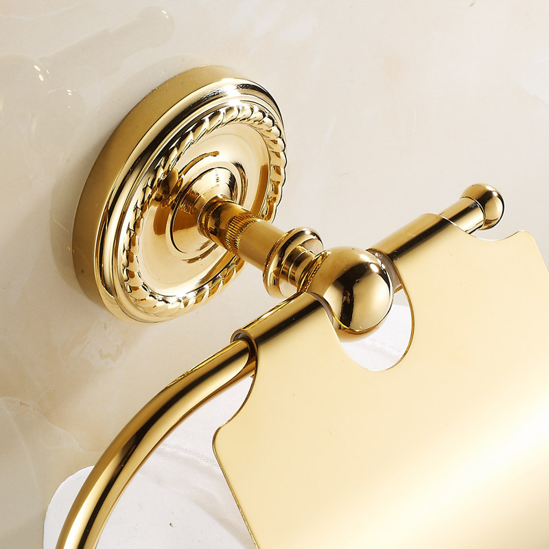 GOLDEN Copper Toilet Paper Holder Paper Rack Gold Plated Towel Rack Bathroom accessories hardwares 7002G-in Paper Holders from Home Improvement on ... & GOLDEN Copper Toilet Paper Holder Paper Rack Gold Plated Towel Rack ...