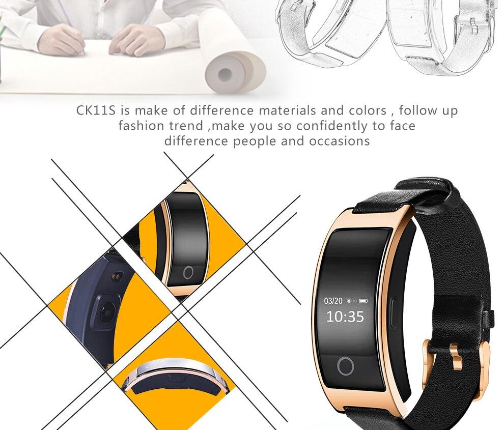 CK11S Wristband Blood Pressure Watch Blood Oxygen Heart Rate Monitor Pedometer IP67 Waterproof marigold 5