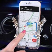 Universal Smartphone GPS Bracket Bling Crystal Rhinestone Car Phone Hol