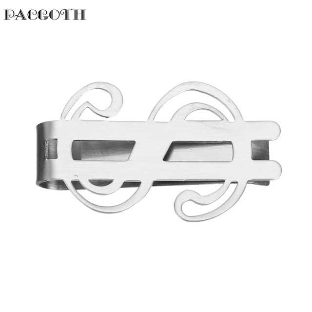 Pacgoth 304 Stainless Steel Money Clip Dollar Symbol Silver Tone