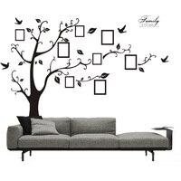 Hight calidad de memoria decoración mural art 3d diy familia Negro foto Árbol Marco de PVC Tatuajes de Pared Adhesivo Pegatinas de Pared 200*250 cm