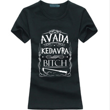 Avada Kedavra Harry Potter letter print women t-shirt fashion harajuku cotton tee shirt femme 2016 summer brand funny punk tops