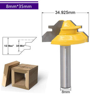 8mm*35mm-1PC,45 degrees CNC solid Carbide Milling Cutter,woodworking router bit,Floor knife,mortise end mill,cabinet wood tool