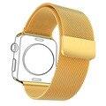 Correas de reloj Para Applewatch 2 Hombres/Mujeres Milanese Lazo Amarillo Chapado En Oro de Acero Inoxidable y Correa de Reloj Estuche protector APB1757K
