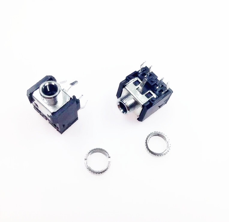 10PCS 3-pin 3.5mm Stereo Audio Plug for Solder free Binding Post Headphones