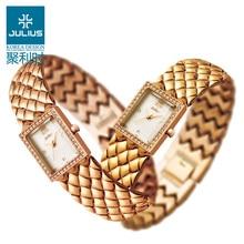 Julius Vrouwen Horloge Japan Quartz Uur Fijne Mode Jurk Ketting Armband Rvs Business Meisje Verjaardagscadeau Doosbox boxbox gift boxbox girl