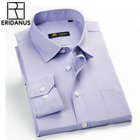 Classic Striped Men Dress Shirts Long Sleeve Business Formal Shirts Male Casual Shirts Slim Fit Camisa