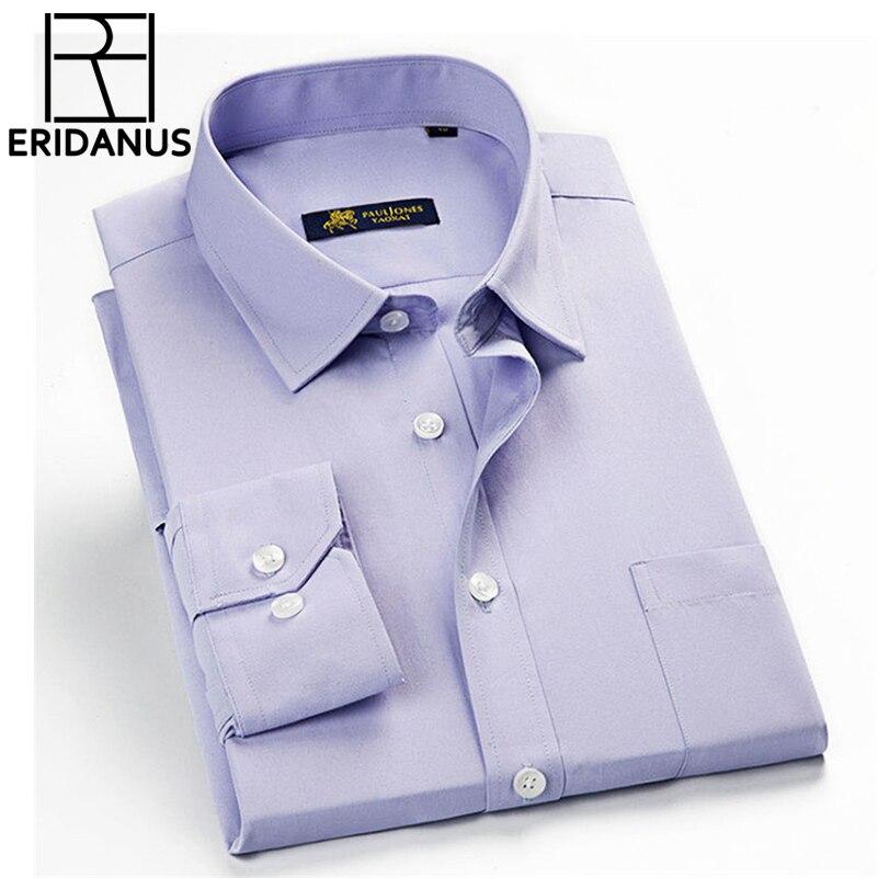 Hombres de rayas clásico camisas de vestir de manga larga de - Ropa de hombre