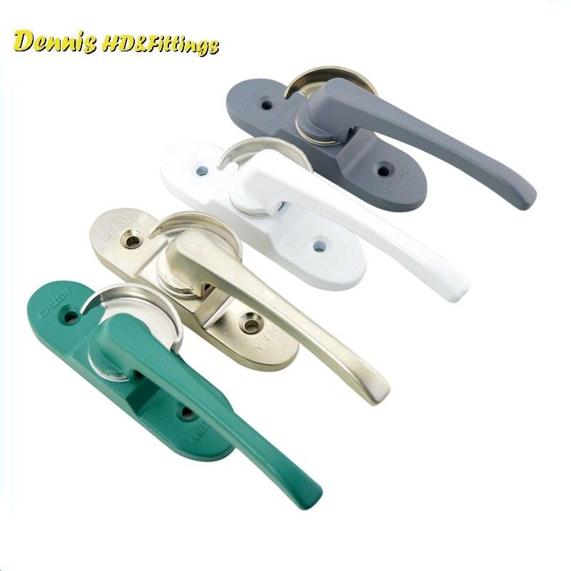 2Pcs/Lot Premintehdw Window Casement Locking Handle lock Zinc Alloy In Epoxy With Hook Half Moon