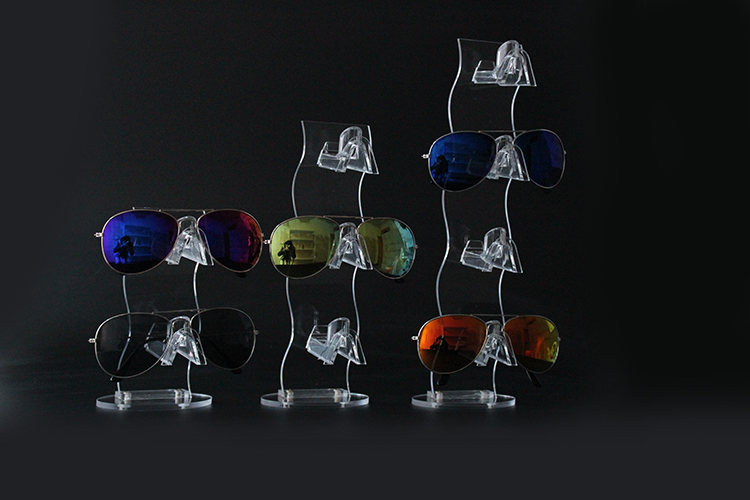Detachable Sunglasses Eyeglasses Display Rack Acrylic Frame Eyewear Glasses Counter Stand Holder