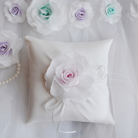 New Top quality Wedding Ring Pillow embroidered clover Ring Pillows Cushion bride boys Wedding accessories Party supplies