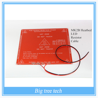 New RepRap 3D Printer PCB Heatbed MK2B Heated Bed With Led And Resistor And Cable