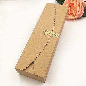 Image 3 - Boîte demballage en papier à bonbons et pain, forme longue 23*7*4cm, 50 pièces/lot, fournitures demballage pour fêtes de mariage, festival