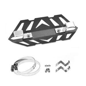 Image 4 - Universal Exhaust Pipe Crash Heat Shield Protector Aluminum for ktm exc Honda crf 230 dirt bike parts motocross