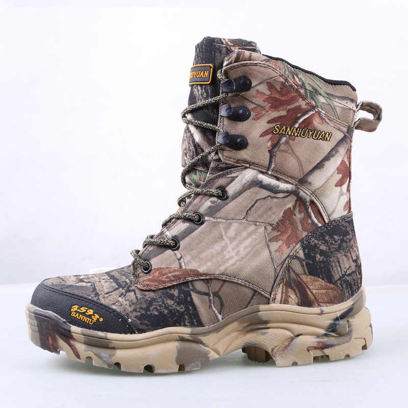 b24e1126 ... Мужские военные армейские ботинки кожаные непромокаемые камуфляжные  принты спецназ дезерты охотничья обувь армейские тактические ботильоны ...