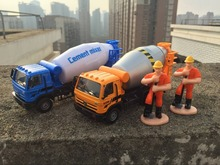 KDW 17cm Engineering transport series kids toys Alloy car model Cement mixer Gift boxes are the