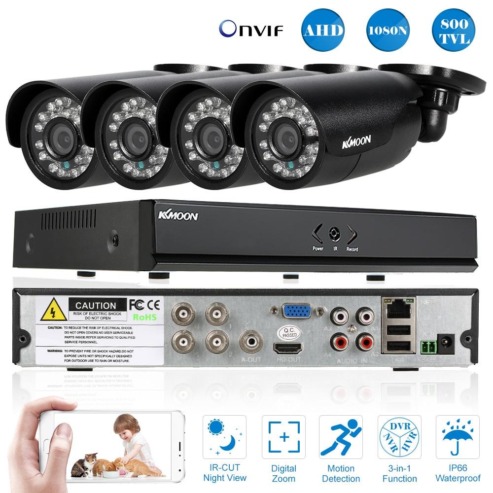 KKmoon 4CH 800TVL CCTV System Outdoor 4CH 960H D1 DVR 4pcs Waterproof IR Security Camera Home