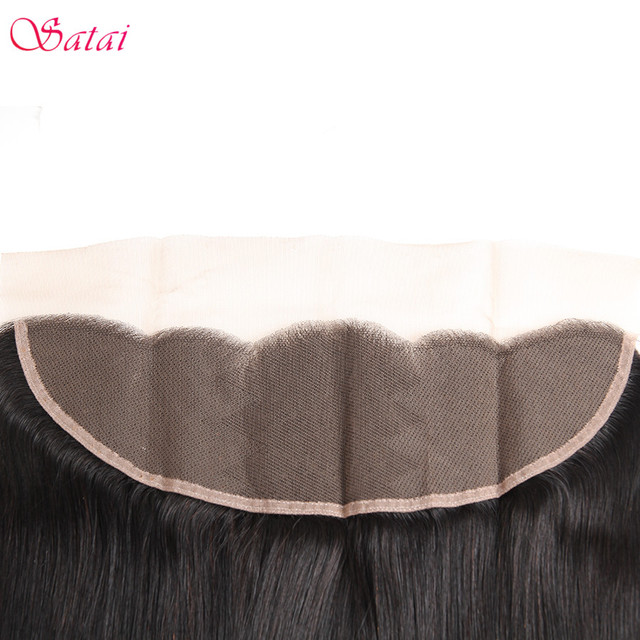 Satai Brazilan Straight Hair Human Hair 3 Bundles With Frontal Best Brazilian Hair Frontal With Bundles Non Remy Hair Extension 5