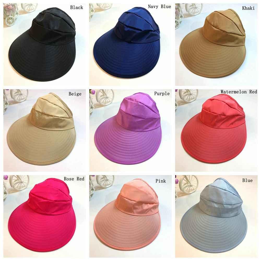 8990cd0289f ... 1PC Women Summer Sun Hats Lady UV Protection Hats Female Sun Visor Hat  With Big Heads