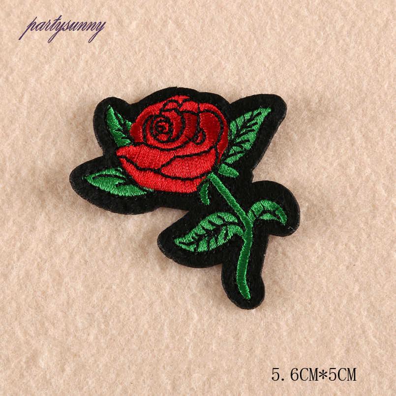 Pf аппликация, вышивка цветок патчи железа на мотив значки для джинсы мешок швейные полосой патчи для одежды diy украшения tb103