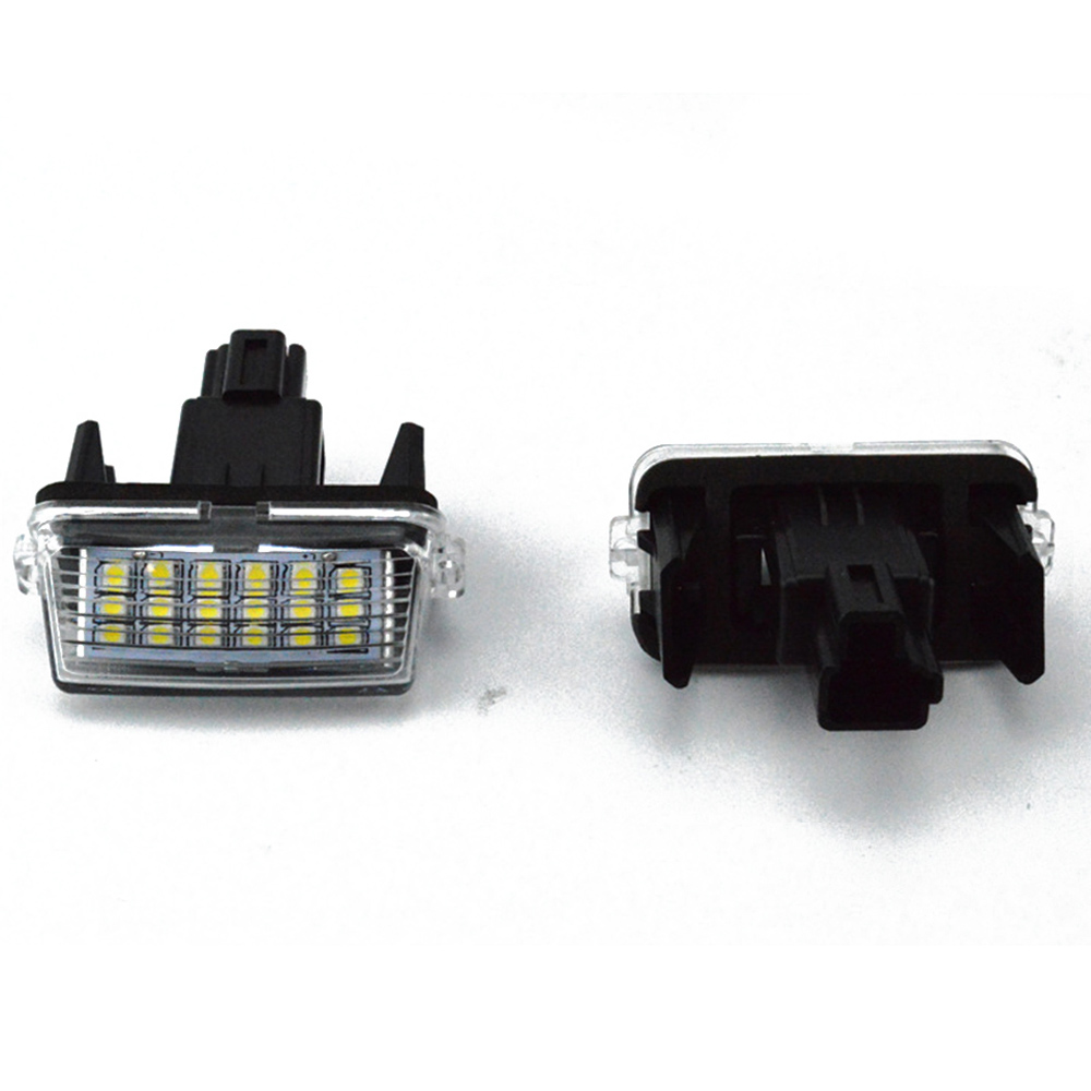 New 2pc/Set 18LED Bright White License Plate Light Lamp For Toyota Camry EZ VIOS 14-16 2012-16 Car SMD LEDs For COROLLA 14-16