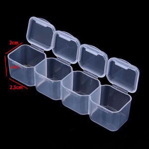 Image 3 - 28 Slots Nail Art Storage Box Plastic Holder For jewelry Rings Rhinestone Diamond Painting Organizer Transparent Display Case
