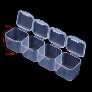 Image 3 - 28 слотов хранение для принадлежностей для дизайна ногтей пластиковый держатель для ювелирных колец Стразы Алмазный Органайзер Прозрачный чехол для дисплея