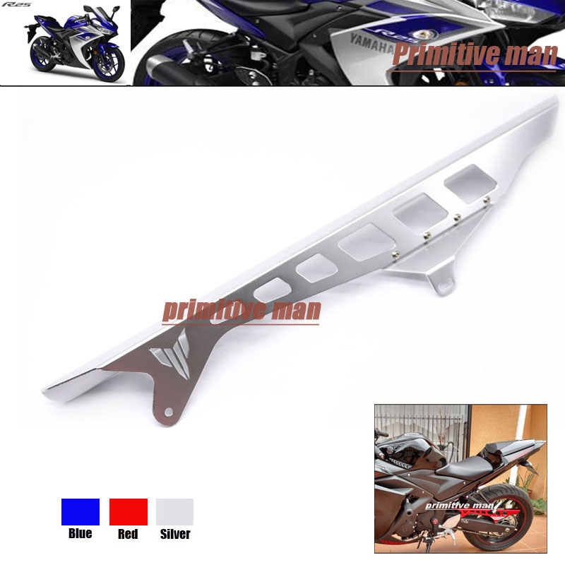 ФОТО For YAMAHA YZFR25 YZFR3 YZF-R25 YZF-R3 Motorcycle Accessories Rear Chain Guard Swingarm Cover Silver