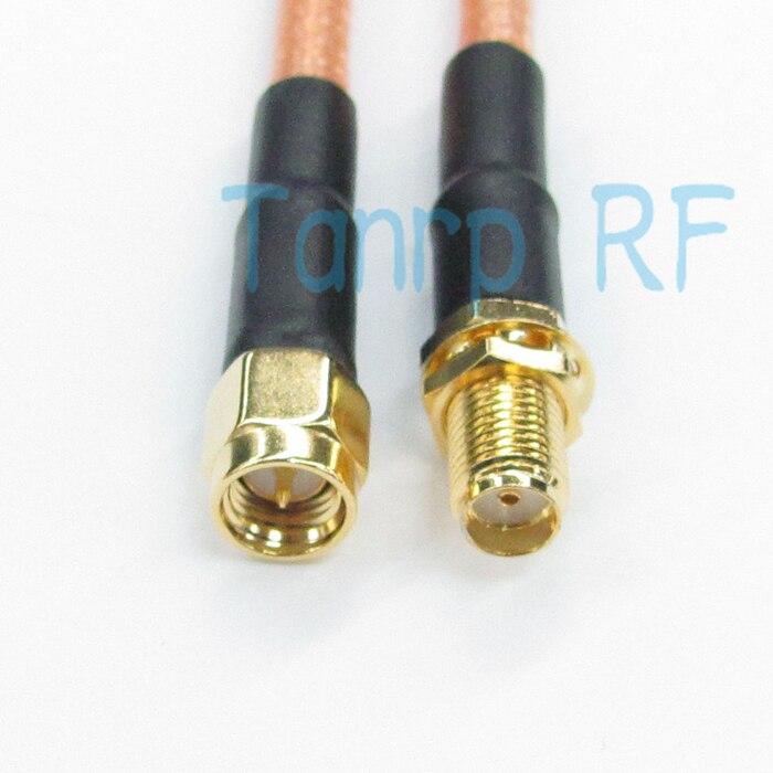 Livraison gratuite! 3 PIEDS RF Pigtail cavalier câble coaxial SMA femelle jack à SMA fiche mâle 100 CM RG142 Gros