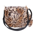 Fashion Rabbit Fur Bag for Ladies Faux Fur Clutch Bags Leopard Women Shoulder Crossbody Bag 2016 Winter Women Leather Handbags