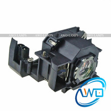 AWO Replacement Projector Lamp ELPLP34/V13H010L34 for  Powerlite 62C EMP-62 EMP-62C Powerlite 82C EMP-82 EMP-X3 UHE170W inmoul replacement projector bulb for emp 53 emp 73 powerlite 53c powerlite 73c