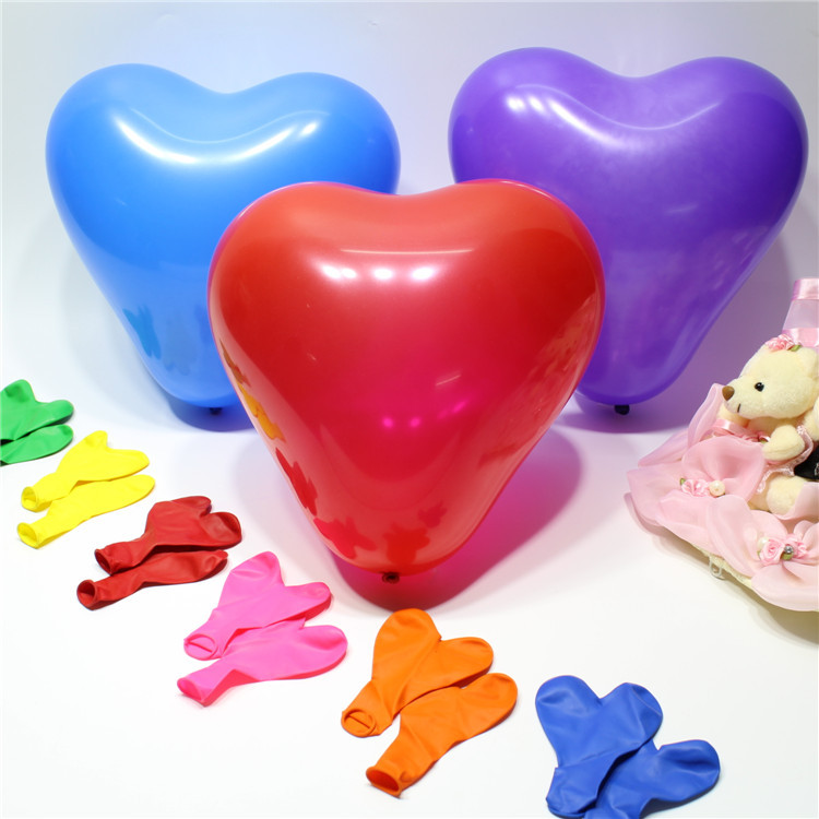 12inch Best Price High 100pcs/lot heart shaped Pearl Latex Balloon Helium Celebr