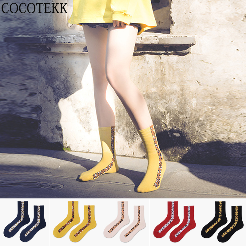 New Fashion Sexy Wild Leopard Print Cotton Women Socks