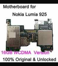 16GB good  Work   before shipping unlocked Original  Motherboard  Nokia For  Nokia Lumia 925 motherboard WCDMA  Logic Board