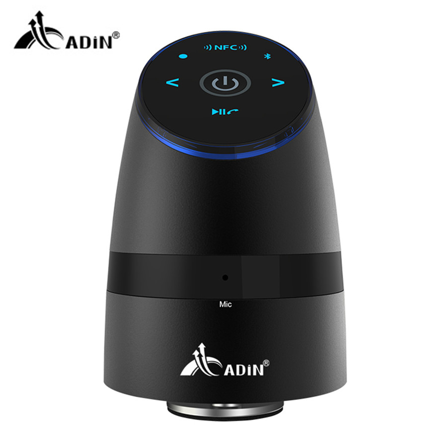 ADIN NFC Bluetooth Speaker 26W Wireless Vibration Speakers Phone Hands-free Mini computer subwoofer speakers for your phone blackview bv5000 смартфон