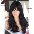 2016 New Fashion Sexy Brazilian Virgin Human Hair Glueless Lace Front Wigs Natural Wave Full Lace Human Hair Wig With Bangs