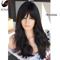 2016 Nueva Moda Sexy Encaje Sin Cola Del Pelo Humano Virginal Brasileño frente Pelucas Onda Natural Llena Del Cordón Peluca de Cabello Humano Con flequillo