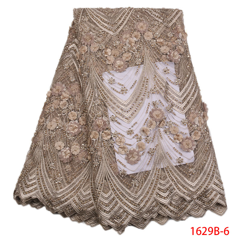 2019 New Design 3D Good Quality Manual bead Lace For Party nigerian lace fabrics latest african