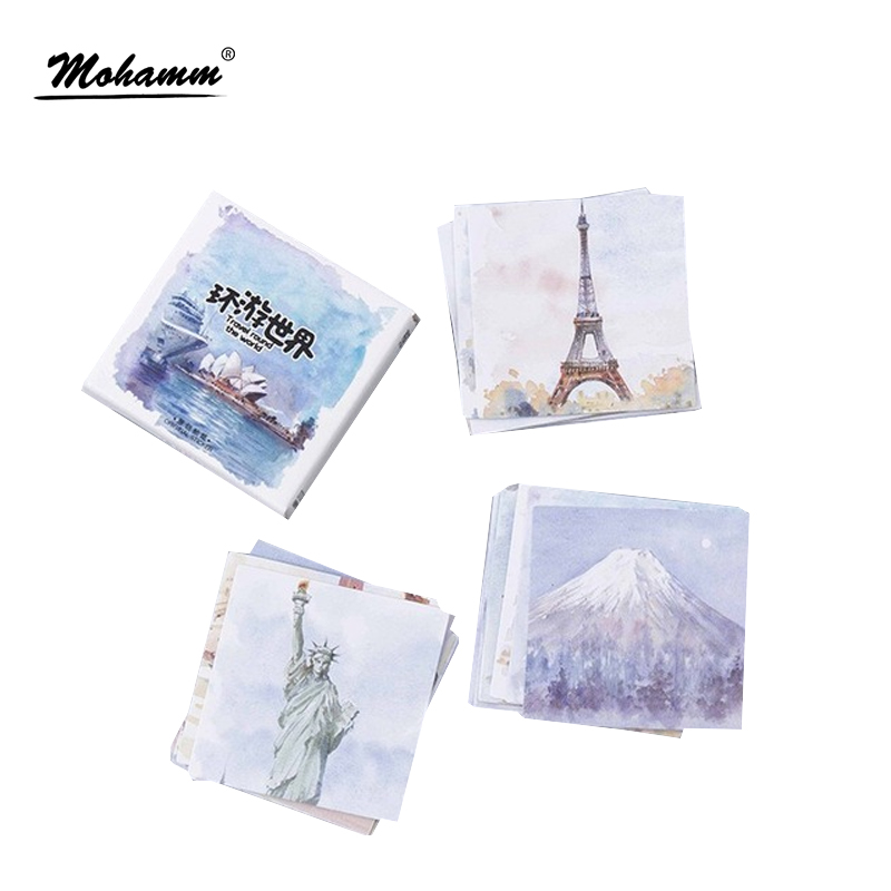 45pcs/lot Creative Travel All Around The World PVC Decoration Stickers Diy Diary Sticker Scrapbooking Stationery Stickers
