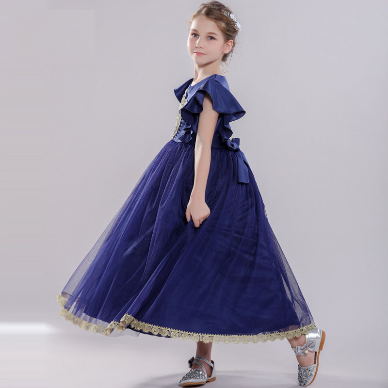 Girl Dresses Children Ankle-Length Princess Dress Classical Princess Bridesmaid Wedding Birthday Party Dress 3-8 years fashion 5 16 years girls princess dress sleeveless flowers children bridesmaid birthday wedding party girl long dresses