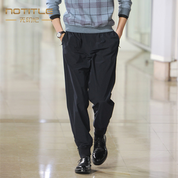 New 2019 men's clothing Hair Stylist Original Show Loose thread closure harem pants plus size costumes 27-46
