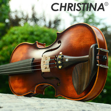 Italy Christina V02 beginner Violin 4/4 Maple Violino 3/4 Antique matt High-grade Handmade acoustic violin fiddle case bow rosin(China)