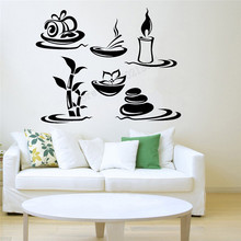 Wall Art Sticker Spa Massage Relax Room Decoration Vinyl Removeable Poster Beauty Salon Decal Modern Ornament LY459 цена