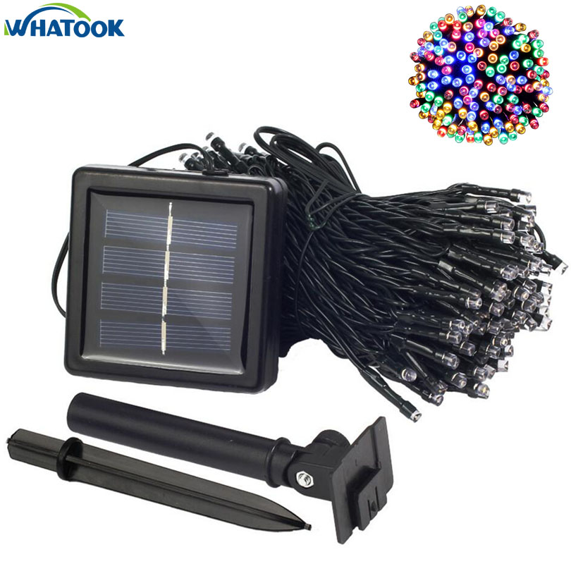 все цены на Solar String Lamp 7M 12M 22M Flower Blossom Decorative Lights Waterproof Fairy Starry Garden Outdoor Christmas Home Light 100pc онлайн
