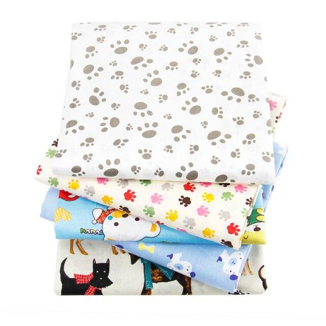 David accesorios 50*145 cm huellas de perro patchwork 100% tela de ...