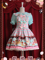 Free shipping! New Arrivals! High quality! Cream Cat Cute Lolita Skirt