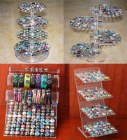 Newest Acrylic Snap Button Bracelet Display Detachable Set Snap Buttons Jewelry For Snap Button Display