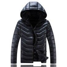 Зима нового размера плюс с капюшоном теплое пальто для мужчин свободные водонепроницаемые мужские куртки зимние для мужчин