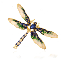 Fashion Dragonfly Brooches Lovely Enamel Brooch for Men Women Suit Dress Pins Insect Corsage Clothing Accessories